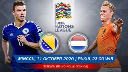 Prediksi pertandingan UEFA Nations League 2020 antara Bosnia-Herzegovina vs Belanda. - INDOSPORT