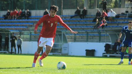 Pertandingan Timnas Indonesia U-19 vs NK Dugopolje U-19, Kamis (08/10/20). Timnas U-19 menang 3-0.