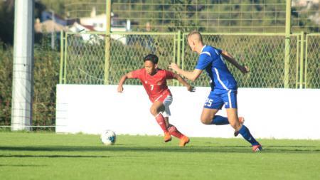 Pertandingan Timnas Indonesia U-19 vs NK Dugopolje U-19, Kamis (08/10/20). Timnas U-19 menang 3-0. - INDOSPORT