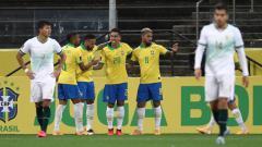 Indosport - Klasemen sementara Copa America masih buktikan kualitas sempurna Timnas Brasil di grup B. Sementara Argentina masih belum aman di grup A.