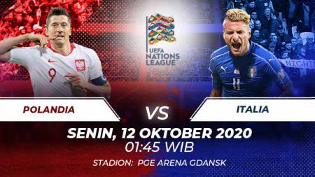 Berikut link live streaming UEFA Nations League antara Polandia vs Italia pada Senin (12/10/2020) pukul 01.45 dini hari WIB. - INDOSPORT