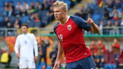 Indosport - Erling Haaland termasuk salah satu generasi masa kini Timnas Norwegia.