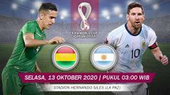 Indosport - Berikut tersaji prediksi pertandingan sepak bola Kualifikasi Piala Dunia 2022 antara Bolivia vs Argentina yang akan berlangsung pada Selasa (13/10/20) pukul 03.00 dini hari WIB.