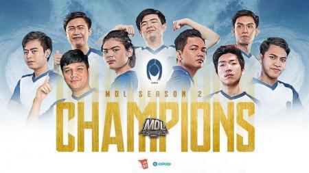 Siren eSports juara ajang Mobile Legends Development League (MDL) Indonesia Season 2. - INDOSPORT