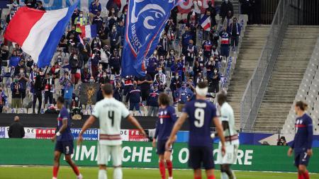 Suasana pertandingan Prancis vs Portugal di UEFA Nations League - INDOSPORT