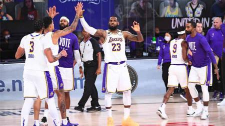 Pemain veteran LA Lakers, Jared Dudley membagikan cerita saat tim rival LA Clippers disingkirkan oleh Denver Nuggets dari playoff NBA. - INDOSPORT