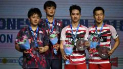 Indosport - Takuto Inoue/Yuki Kaneko dan Kevin/Marcus di ajang Indonesia Open 2018