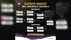 Indosport - Berikut hasil match 5 lower bracket Mobile Legends League (MPL) Indonesia Season 6 2020 antara ONIC eSports vs Alter Ego, Sabtu (17/10/2020).
