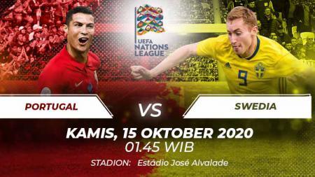 Link live Streaming UEFA Nations League antara Portugal vs Swedia pada Kamis (15/10/2020) pukul 01.45 dini hari WIB. - INDOSPORT