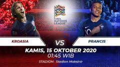 Indosport - Prediksi pertandingan keempat di Grup 3 UEFA Nations League A 2020/2021 antara Kroasia vs Prancis pada Kamis (15/10/2020) pukul 01.45 dini hari WIB.