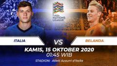 Indosport - Italia akan menjamu Belanda di matchday 4 Liga A Grup 1 Nations League, Kamis (15/10/20). Berikut ini 5 duel kunci yang berpotensi terjadi di laga tersebut.