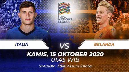 Italia akan menjamu Belanda di matchday 4 Liga A Grup 1 Nations League, Kamis (15/10/20). Berikut ini 5 duel kunci yang berpotensi terjadi di laga tersebut. - INDOSPORT