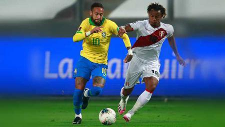 Hasil pertandingan kualifikasi Piala Dunia 2022, Brasil vs Peru. - INDOSPORT