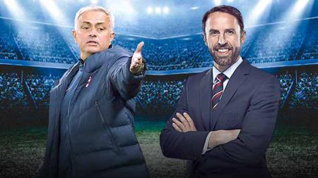 Jose Mourinho dan Gareth Southgate meributkan kondisi Harry Kane. - INDOSPORT