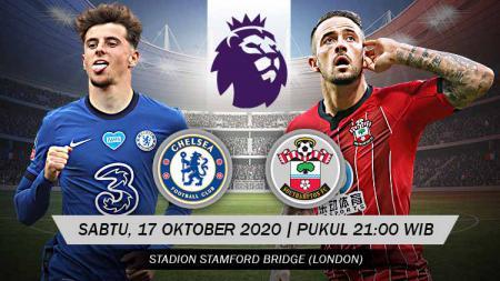 Link Live Streaming Pekan Kelima Liga Inggris antara Chelsea vs Southampton pada Sabtu (17/10/20) pukul 21:00 WIB. - INDOSPORT