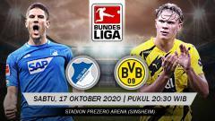 Indosport - Berikut prediksi pertandingan Bundesliga Jerman antara Hoffenheim vs Borussia Dortmund.