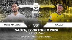 Indosport - Real Madrid vs Cadiz.