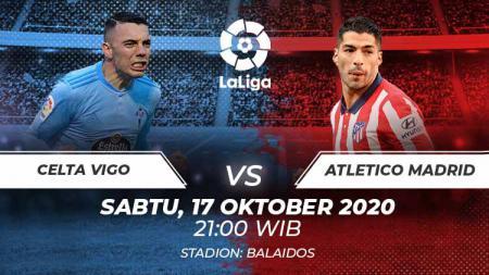 Berikut link live streaming pertandingan LaLiga Spanyol pekan ke-6 yang akan mempertemukan Celta Vigo vs Atletico Madrid. - INDOSPORT
