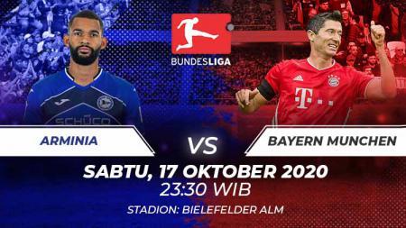 Link live streaming pekan keempat Bundesliga Jerman antara Arminia Bielefeld vs Bayern Munchen bisa disaksikan melalui Mola TV pada Sabtu (17/10/2020) pukul 23:30 WIB. - INDOSPORT