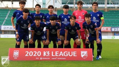 Skuat Cheongju FC, tim Korea di kasta ketiga yang tertarik datangkan pemain Indonesia. - INDOSPORT