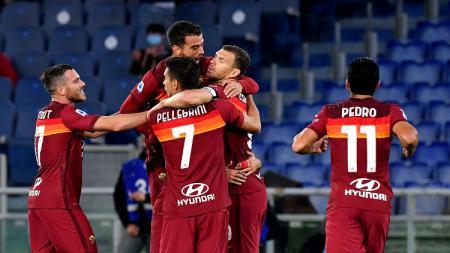 Berikut hasil pertandingan pekan keempat Serie A Liga Italia 2020 antara AS Roma yang menjamu Benevento, Senin (19/10/20) dini hari WIB. - INDOSPORT