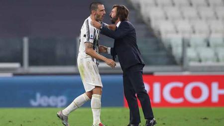 Leonardo Bonucci menjadi salah satu pemain kunci Juventus yang bakal absen jelang laga kontra Barcelona di ajang Liga Champions Grup G, Kamis (29/10/2020) besok. - INDOSPORT