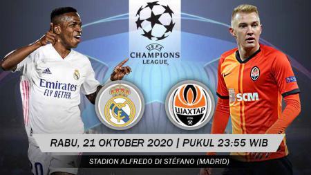 Pertandingan Real Madrid vs Shakhtar Donetsk (Liga Champions). - INDOSPORT