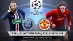 Indosport - Berikut tersaji prediksi pertandingan sepak bola matchday 1 Liga Champions 2020-2021 antara Paris Saint-Germain vs Manchester United di Parc des Princes.