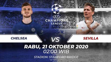 Prediksi pertandingan Liga Champions 2020/21 Grup E antara Chelsea vs Sevilla di Stamford Bridge, Rabu (21/10/20) dini hari WIB. - INDOSPORT