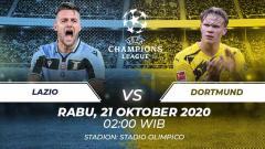 Indosport - Lazio akan segera menjamu Borussia Dortmund di matchday pertama Grup F Liga Champions. Anda bisa menyaksikan pertandingan tersebut melalui live streaming.