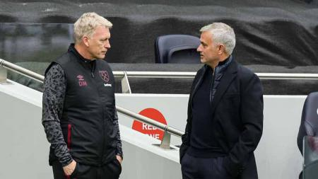 Jose Mourinho menyindir David Moyes punya 'The New Fellaini' saat Tottenham Hotspur ditahan imbang West Ham United. - INDOSPORT