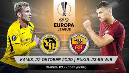 Berikut tersaji prediksi pertandingan sepak bola Liga Europa 2020-2021 antara Young Boys vs AS Roma yang akan berlangsung di Wankdorf Stadium. - INDOSPORT
