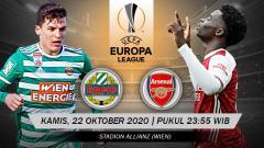 Indosport - Beriku prediksi pertandingan Liga Europpa SK Rapid Wien vs Arsenal.