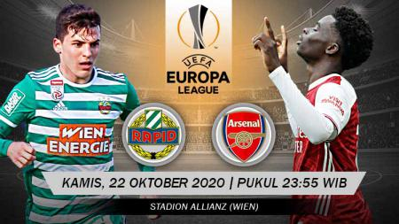 Pertandingan SK Rapid Vienne vs Arsenal (Liga Europa). - INDOSPORT