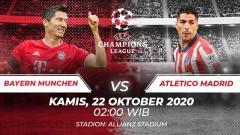 Indosport - Berikut prediksi pertandingan Bayern Munchen vs Atletico Madrid di ajang Liga Champions Grup A, Kamis (22/10/2020) pukul 02.00 WIB di Allianz Arena.