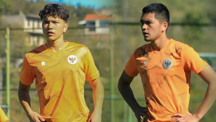Kelana Noah Mahesa dan Luah Fynn Jeremy, dua pemain keturunan Indonesia-Jerman yang dipanggil Shin Tae-yong ke TC Timnas U-19. Copyright: PSSI