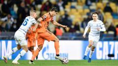 Indosport - Aksi Alvaro Morata dalam laga Liga Champions antara Dynamo Kyiv vs Juventus.