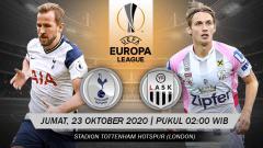 Indosport - Beriku prediksi pertandingan Liga Europa antara Tottenham Hotspur vs LASK Linz.