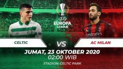 Indosport - Terselip tiga fakta menarik jelang duel Liga Europa antara tim Celtic vs AC Milan, Jumat (23/10/20) dini hari WIB.