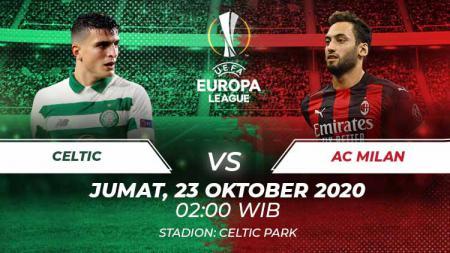 Berikut link live streaming laga Liga Europa 2020-2021 antara Celtic vs AC Milan, Jumat (23/10/20) dinihari WIB. - INDOSPORT
