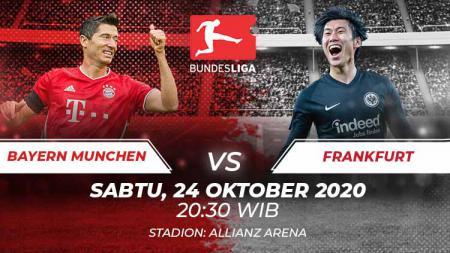 Berikut link live streaming pertandingan pekan kelima Bundesliga Jerman musim 2020-2021 antara Bayern Munchen vs Eintracht Frankfurt. - INDOSPORT