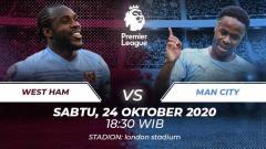 Indosport - Berikut prediksi pertandingan West Ham United vs Manchester City di ajang Liga Inggris pekan ke-6, Sabtu (24/10/2020) pukul 18.30 WIB.