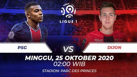 Paris Saint-Germain (PSG) akan menjamu Dijon di pekan ke-8 Ligue Prancis. Anda bisa menyaksikan pertandingan tersebut melalui live streaming. - INDOSPORT