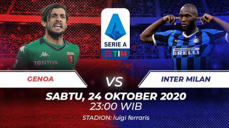 Berikut link live streaming duel Genoa melawan Inter Milan di ajang Serie A Liga Italia, Sabtu (24/10/20) malam WIB. - INDOSPORT