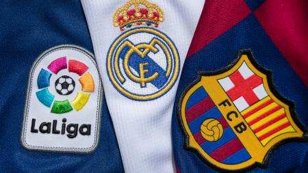 Logo Barcelona vs Real Madrid di LaLiga Spanyol - INDOSPORT