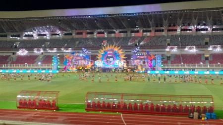 Suasana Seremonial Peresmian PON XX di Stadion Lukas Enembe, Jumat (23/10/20). - INDOSPORT