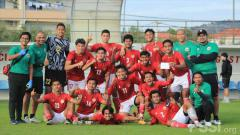 Indosport - Laga internal game Timnas Indonesia U-19, Jumat (23/10/20).