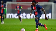 Indosport - Moise Kean di laga PSG vs Dijon dalam lanjutan Ligue 1