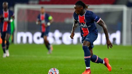 Moise Kean di laga PSG vs Dijon dalam lanjutan Ligue 1 - INDOSPORT