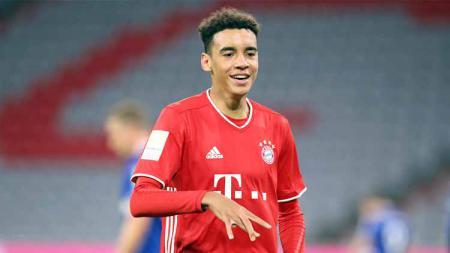 Pemain sepakbola Bayern Munchen, Jamal Musiala, jadi rebutan Inggris dan Jerman. - INDOSPORT